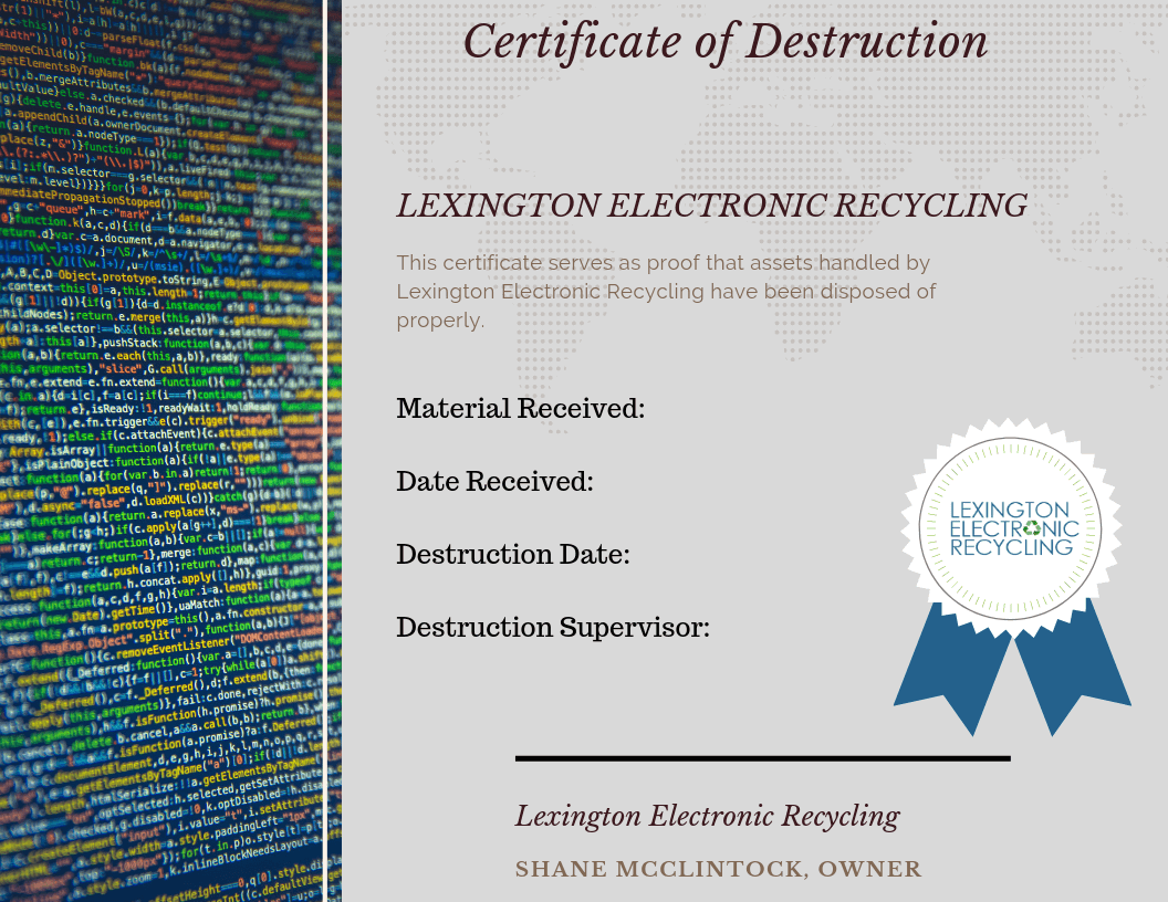 LER - Certificate of Destruction(1)